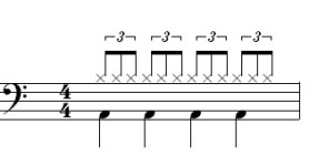 Four Beat Music Example