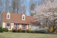 Our House With  Dogwood In Flower