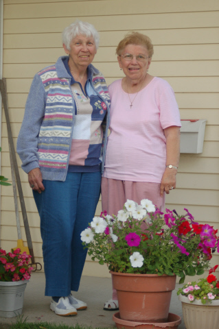 Mom and Aunt Joan, one of Mom's Closest Childhood Friends