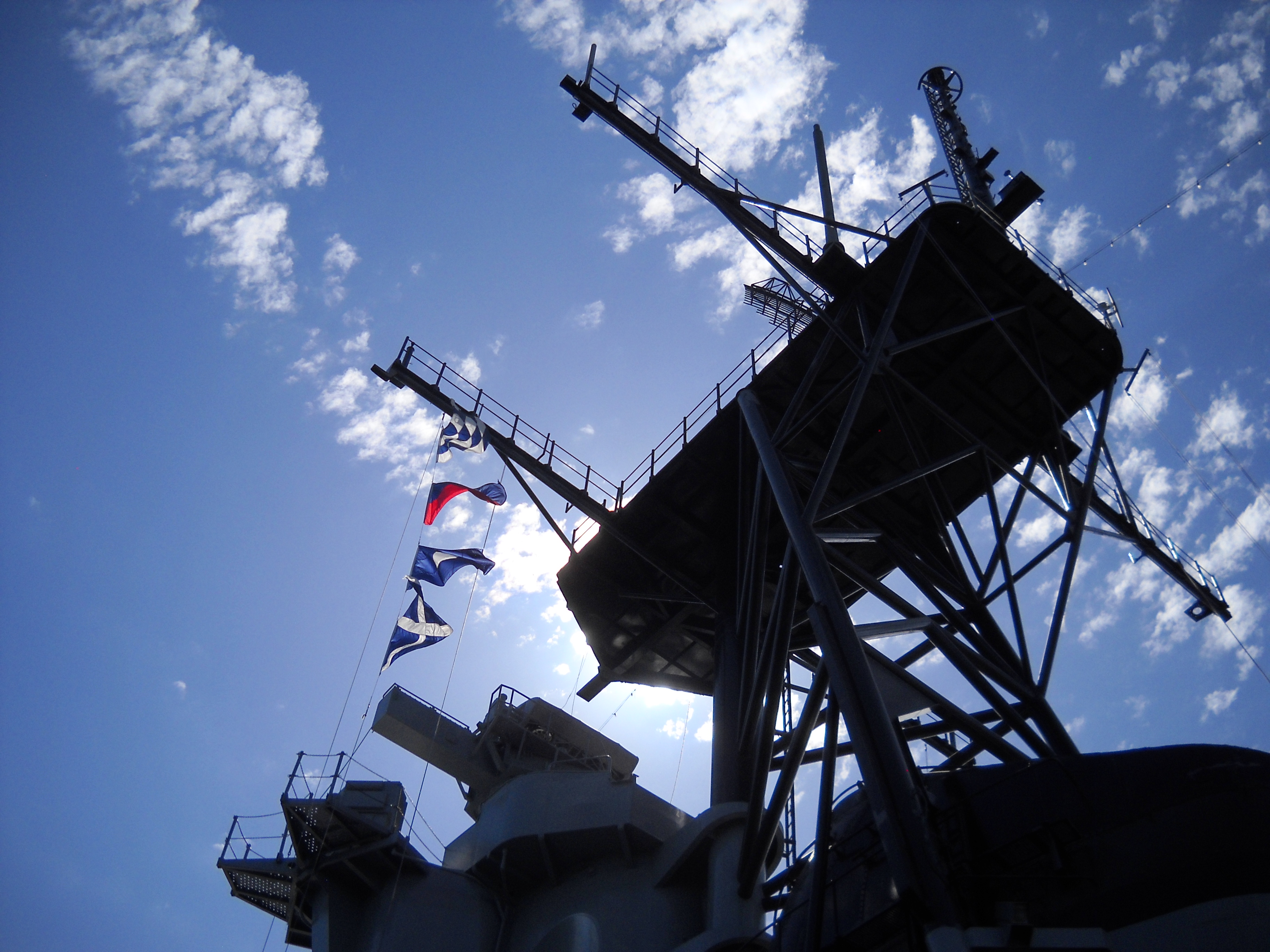 Looking Up at the USS Iowa