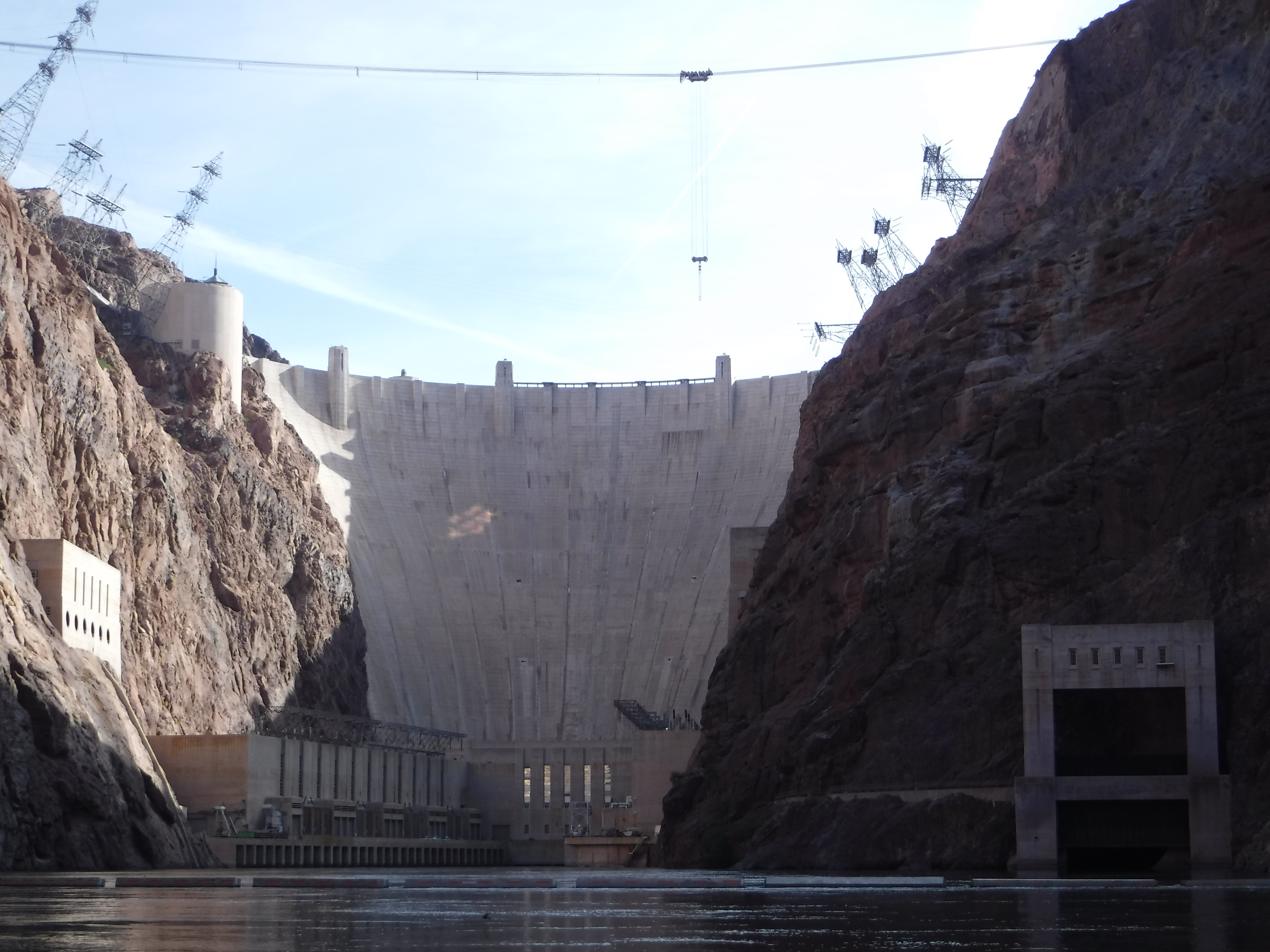 Downstream View of Hoover Damn