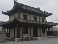 A guardhouse on top of the city wall of Xi'an