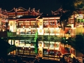 Shanghai Temple District at Night