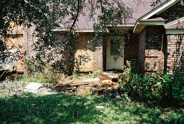 The Front of Our House After Hurricane Katrina