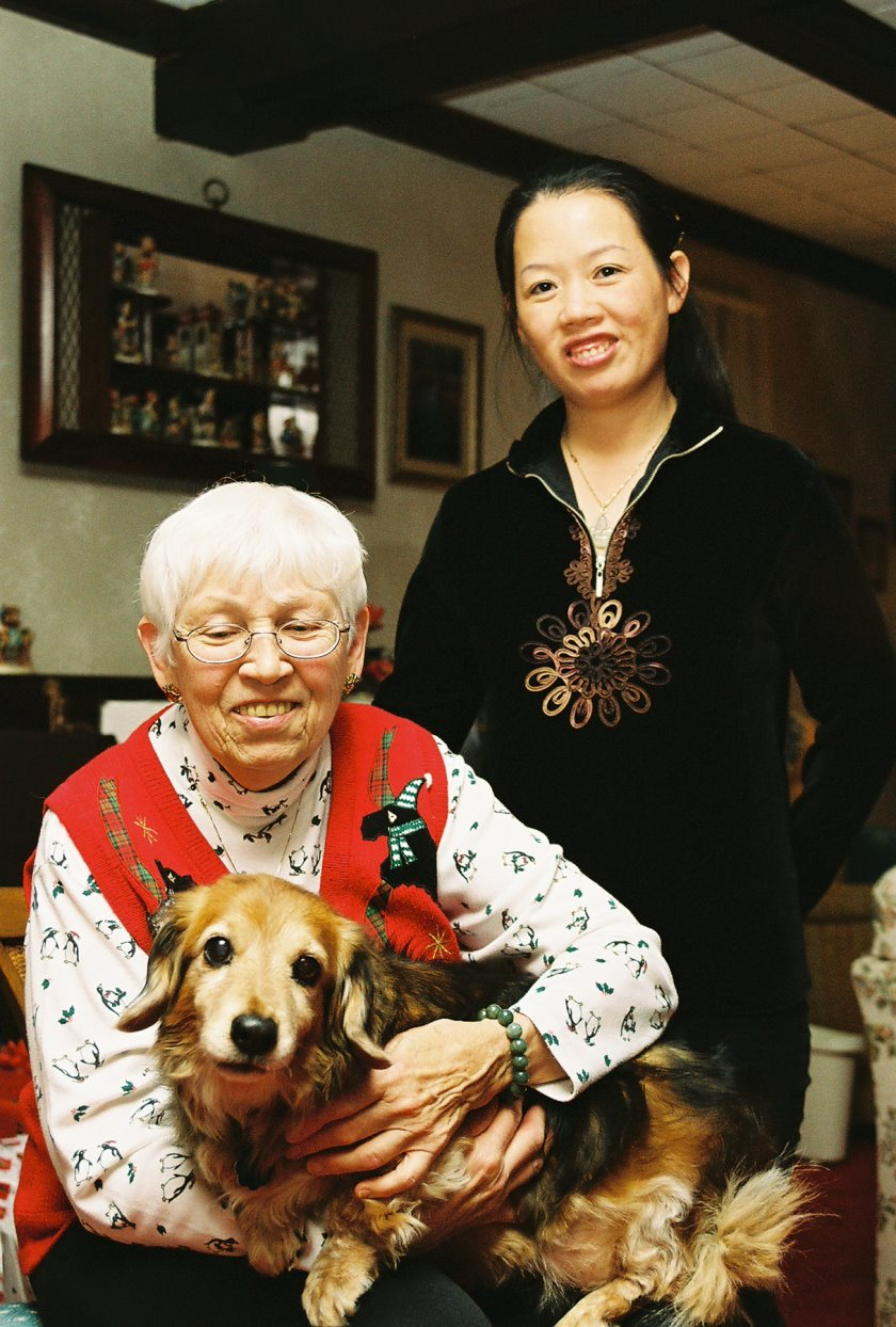 Two Ladies and A Dog