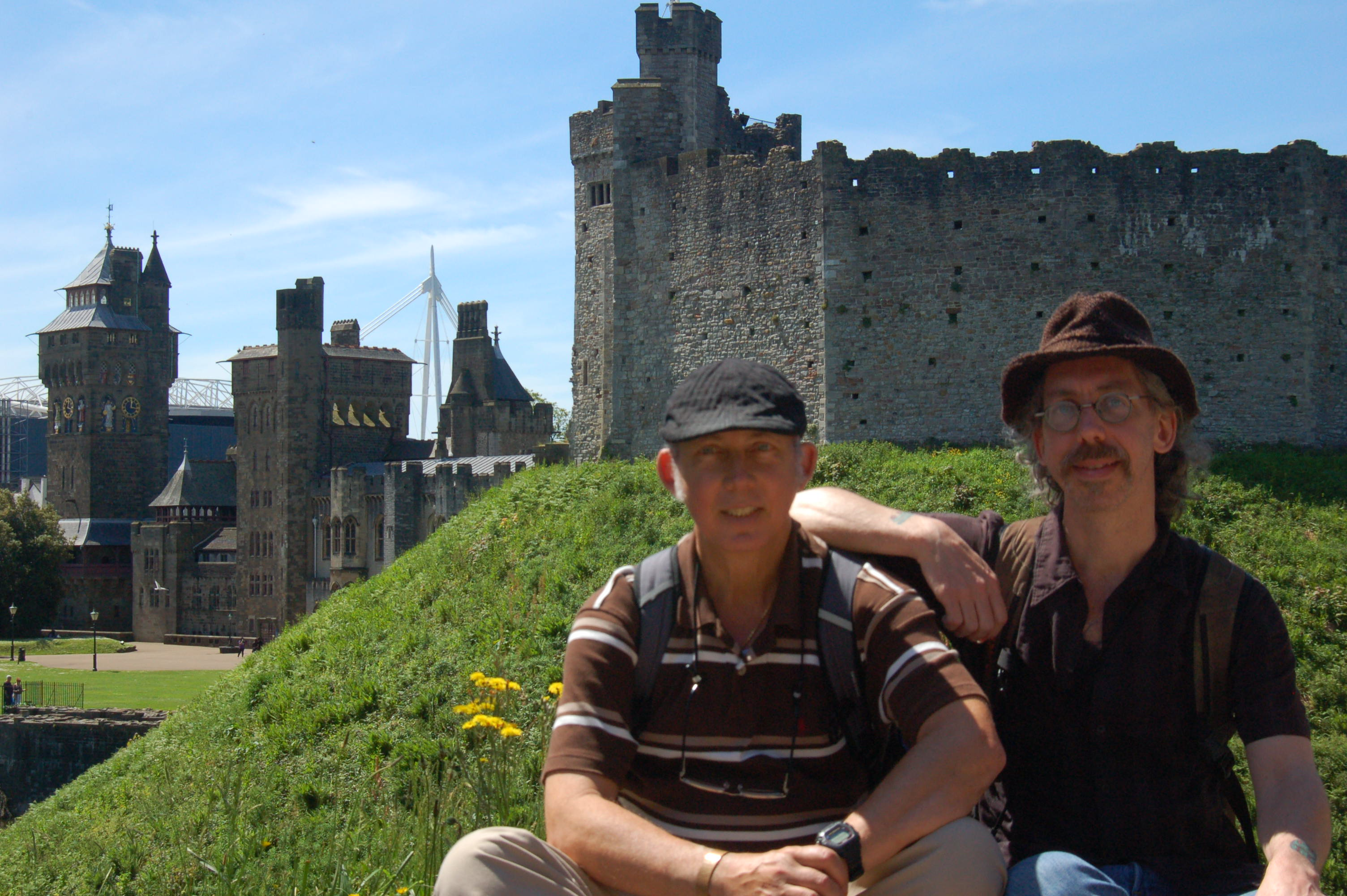 Ron and Jeff In Cardiff, Wales