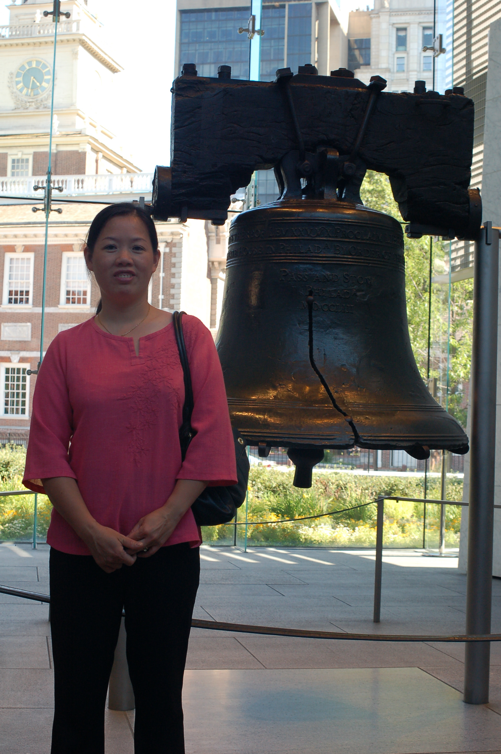 Winnie At The Liberty Bell