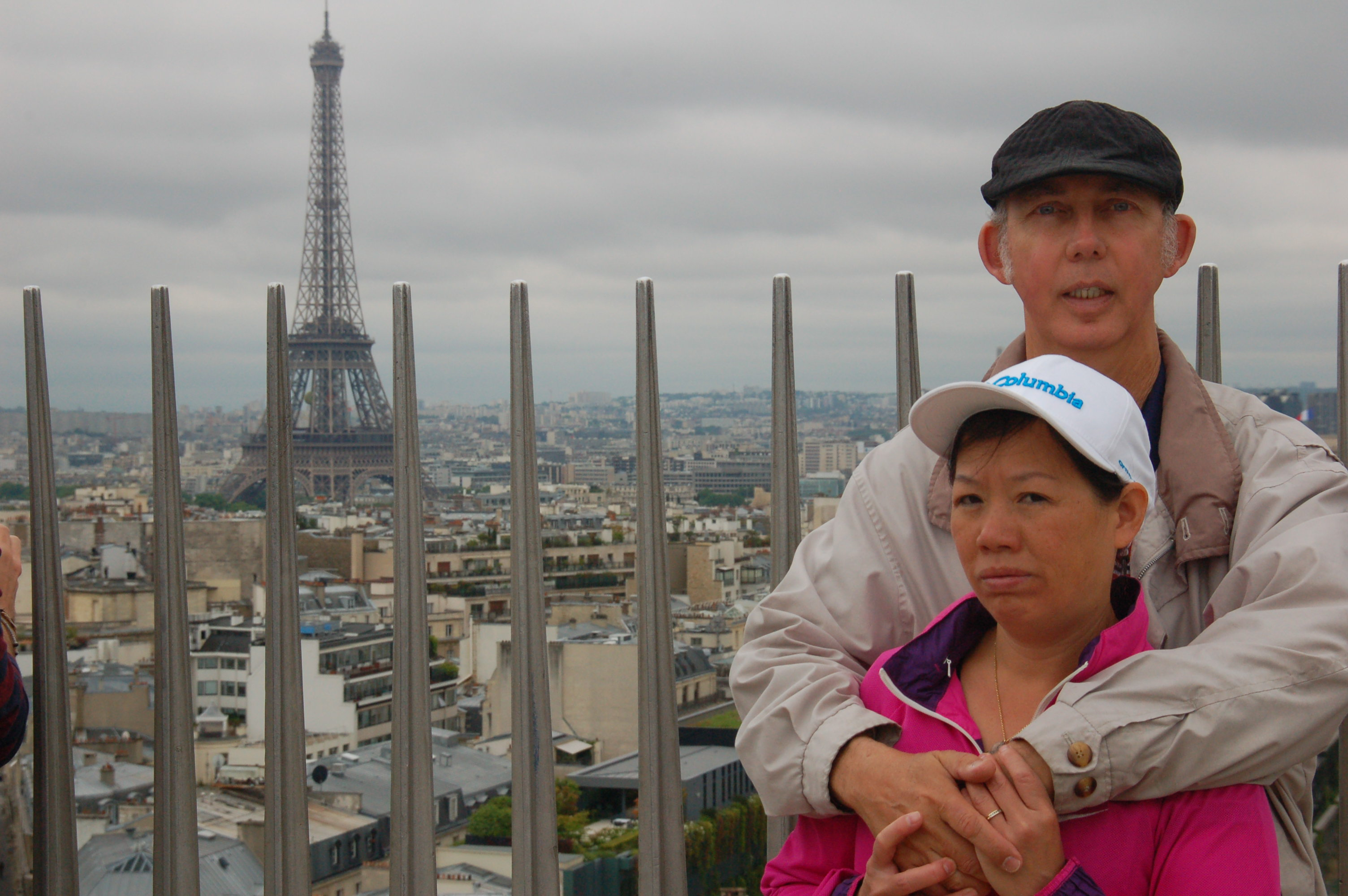 Ron and Winnie On the Eiffel Tower, Paris, France