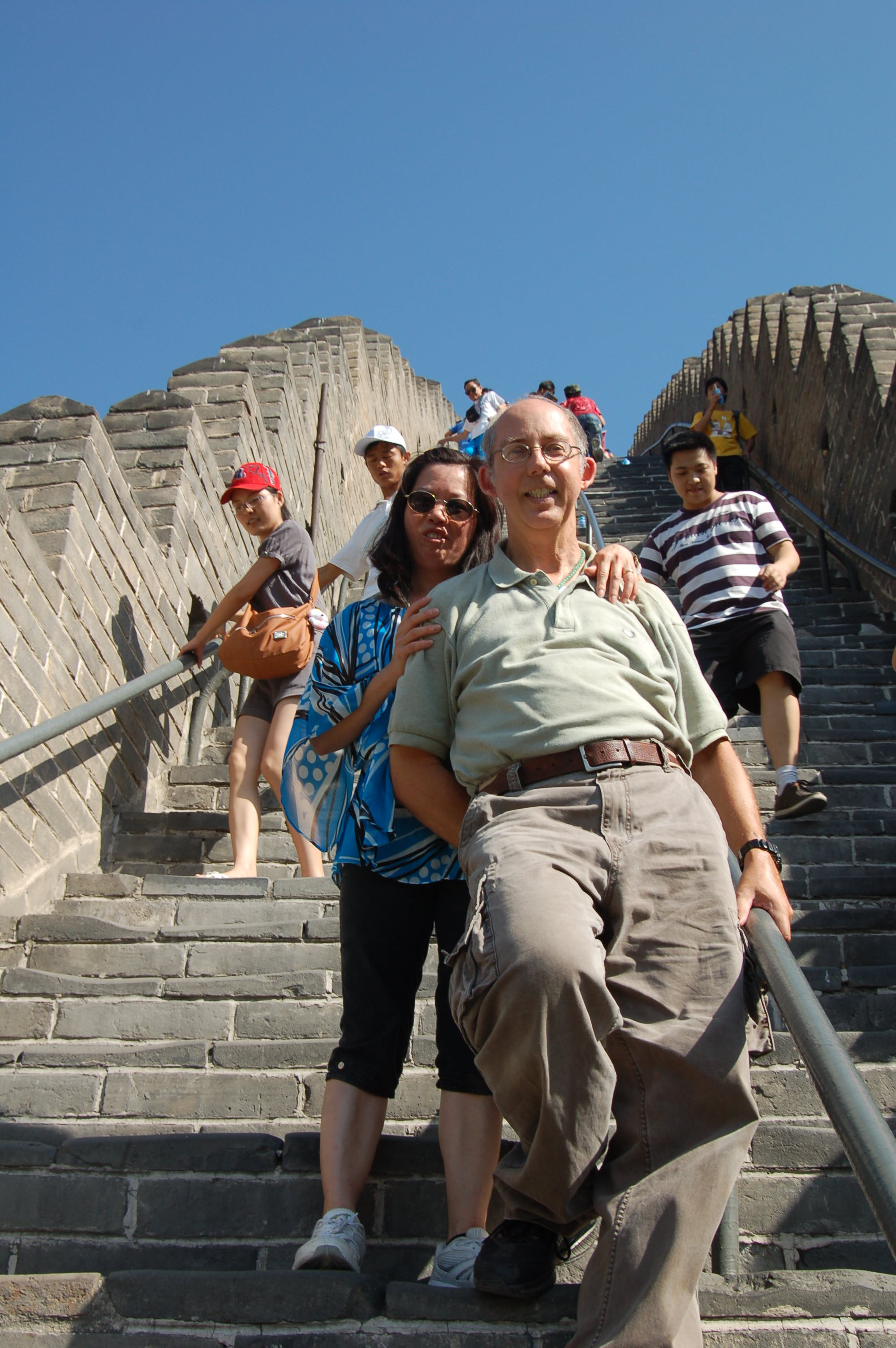 On the Great Wall outside Beijing
