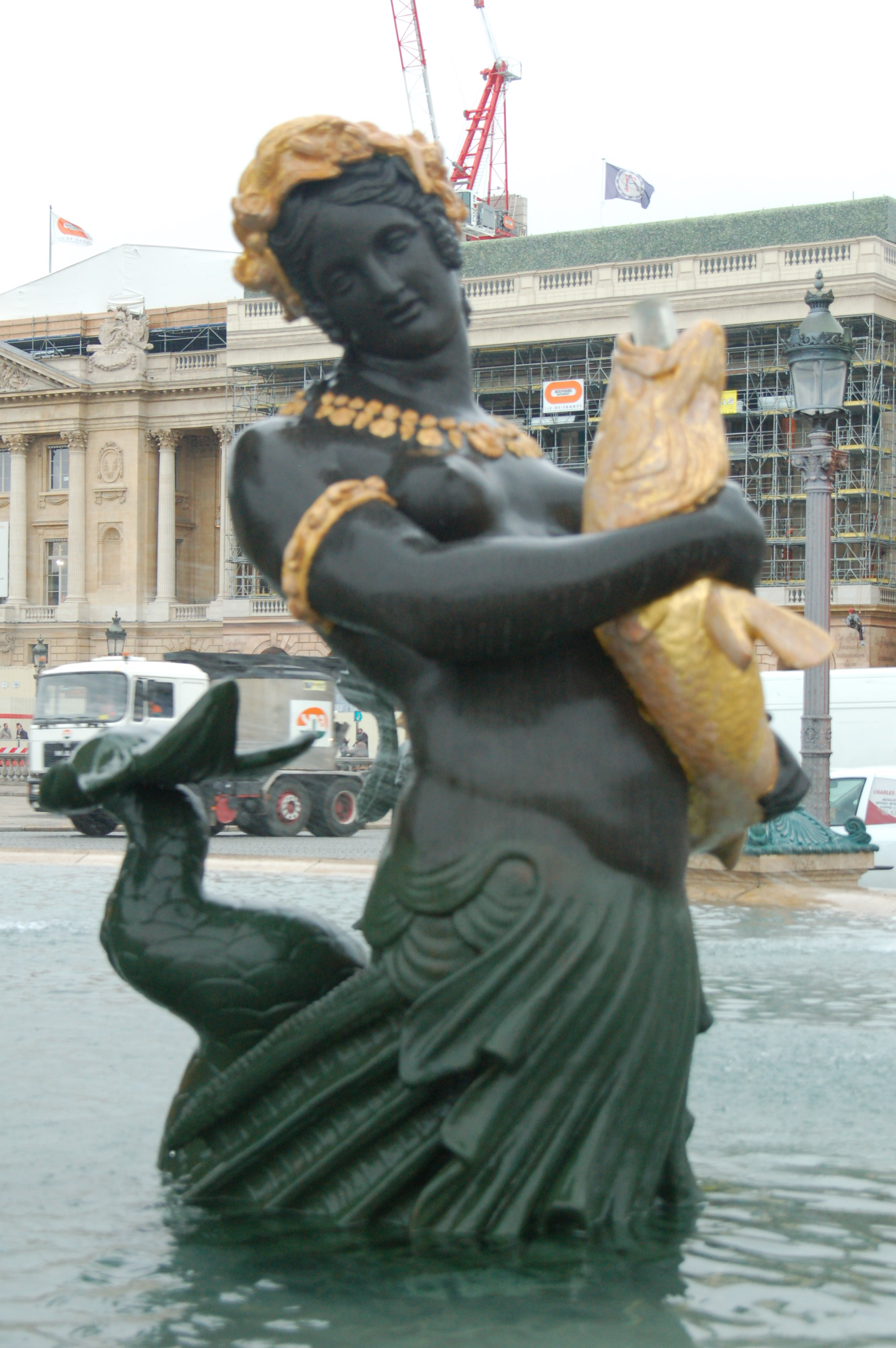 Details Of The Triton Statues
