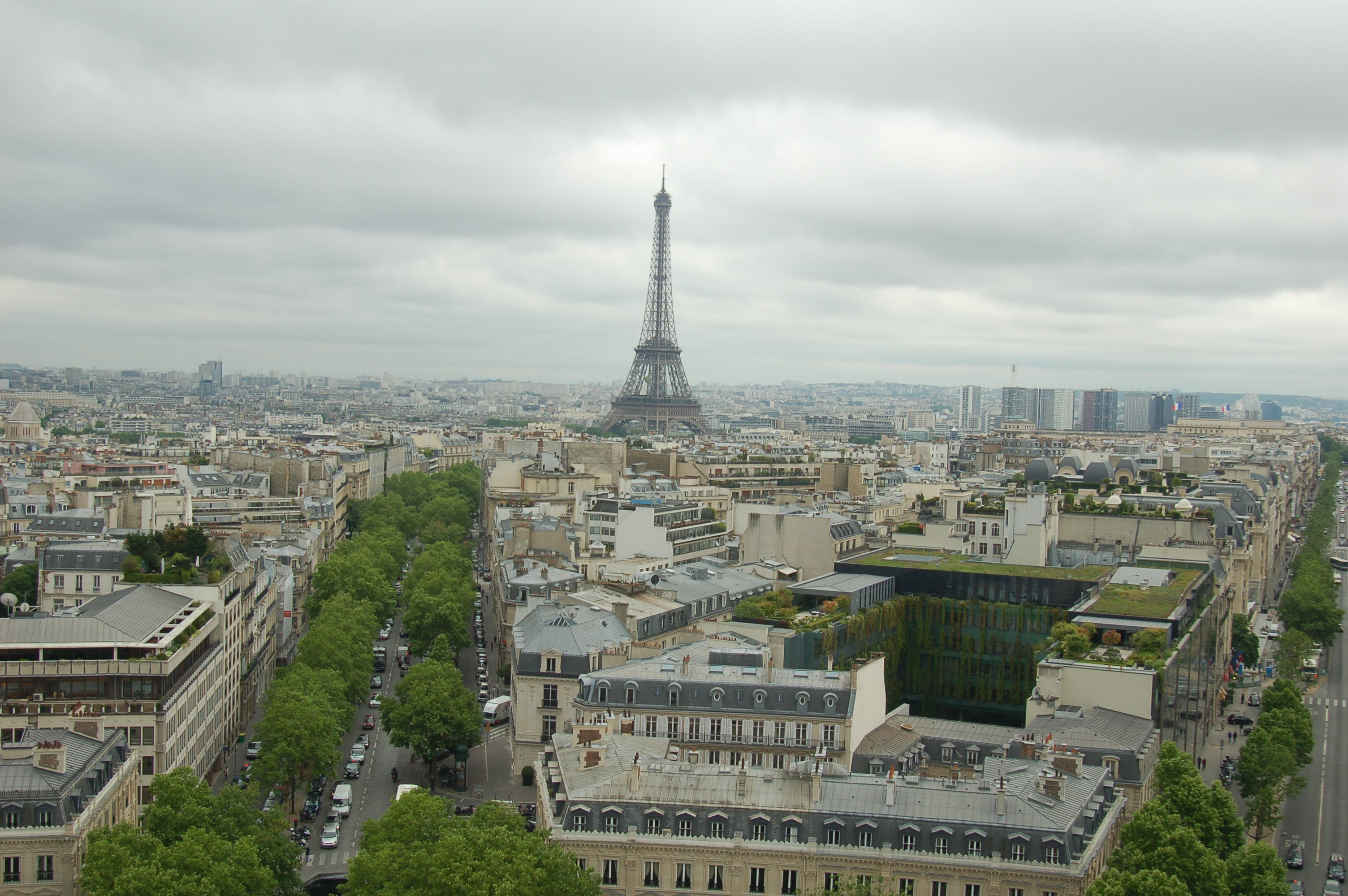 Looking Out From The Arc De Triomphe