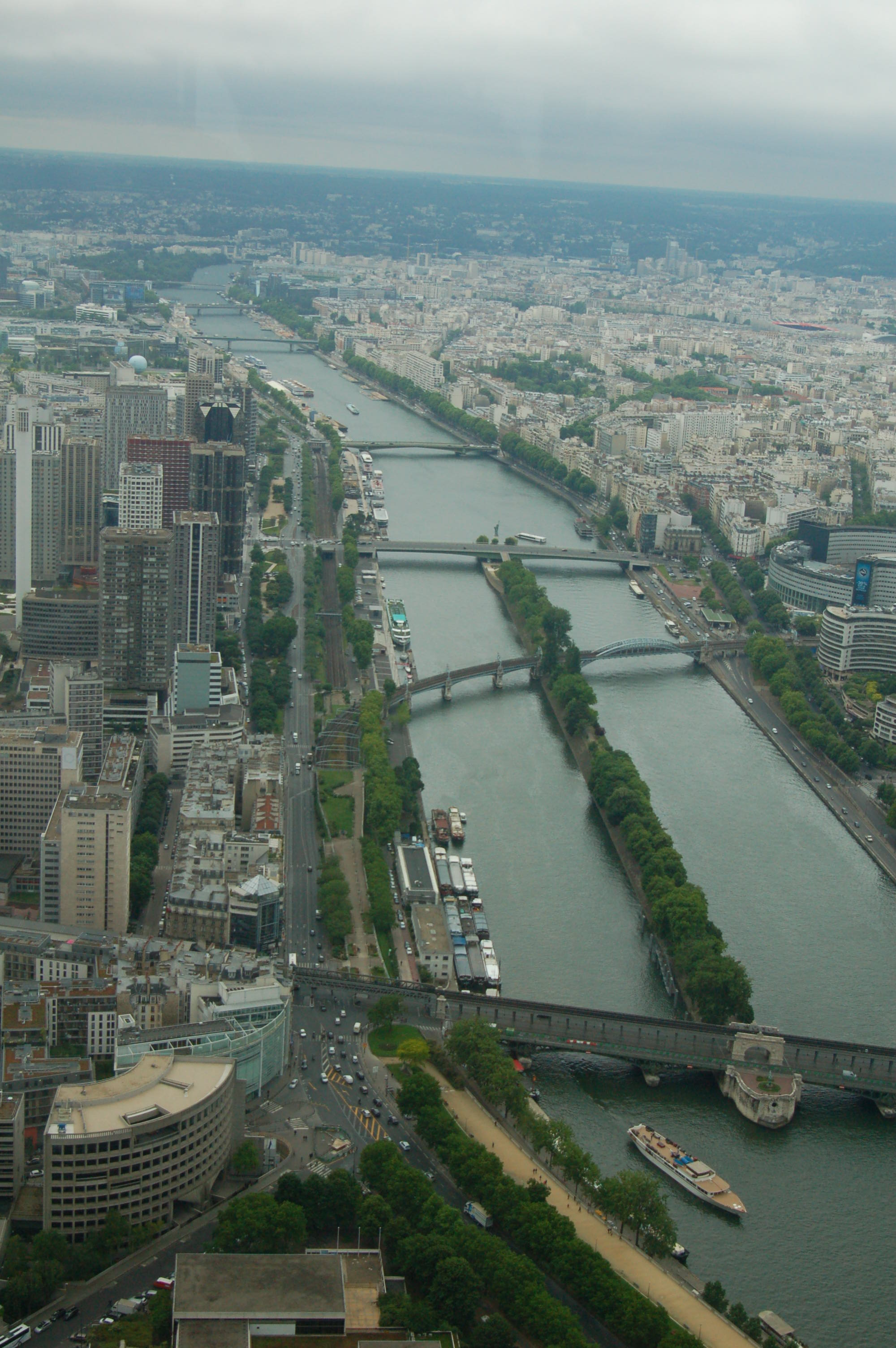Looking Down On The River Seine