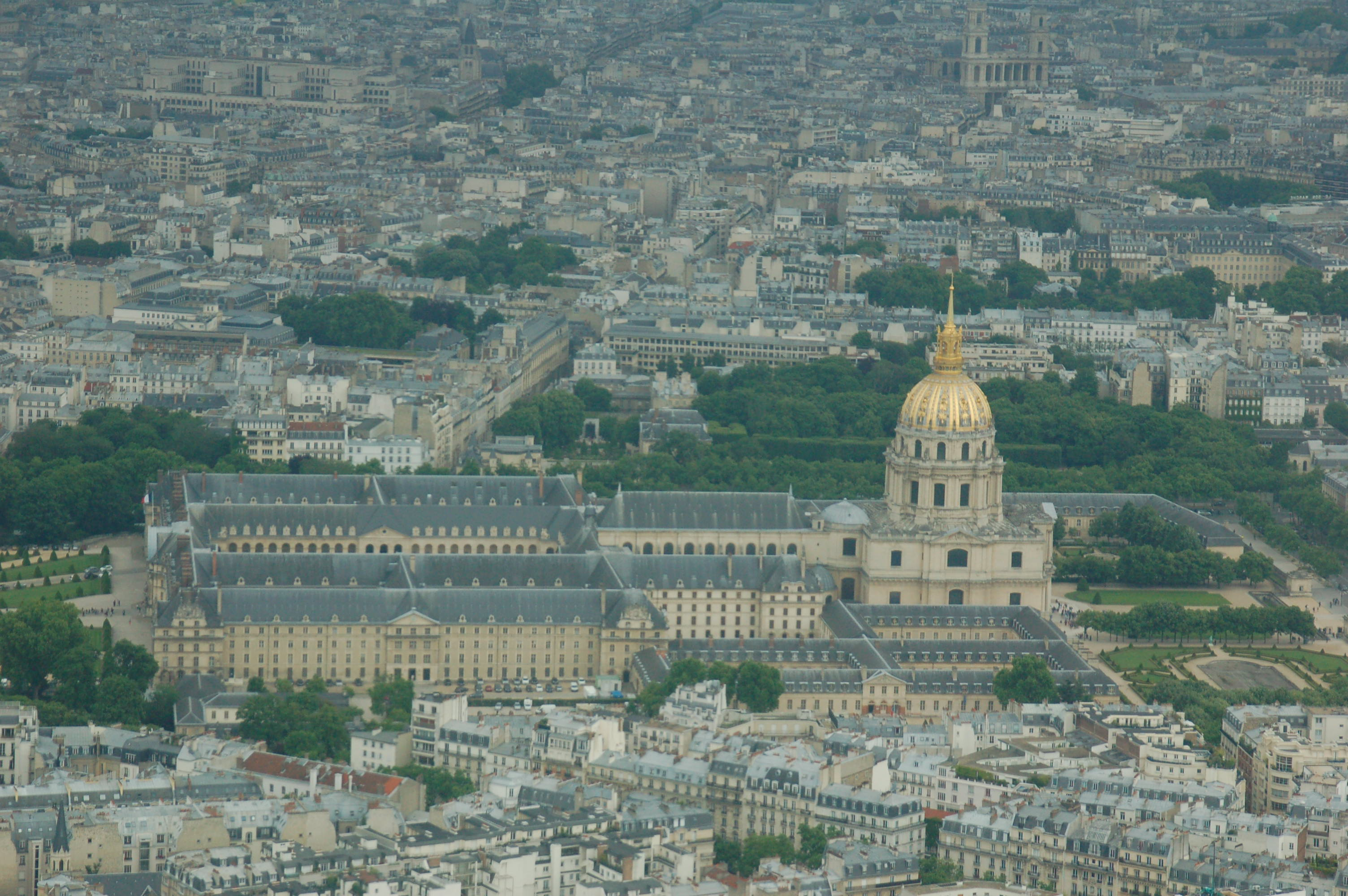 Eglise Du Dome From Top Of The Eiffel Tower