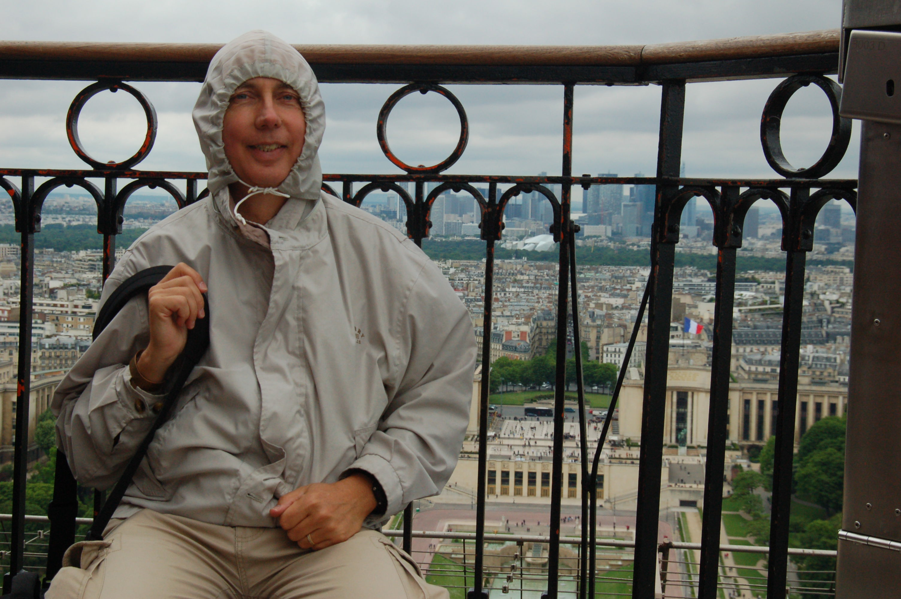 Ron On Top Of The Eiffel Tower