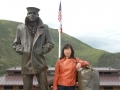 Winnie and The Lone Sailor Monument