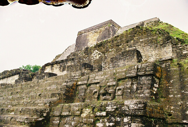 Close-up of the Mayan Temple, Belize