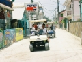 Rush Hour Traffic in Ambergris Caye