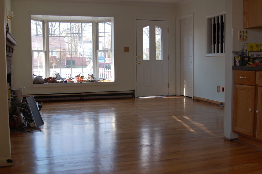 Living Room Floor - After Refinishing
