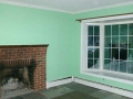 Living Room with Fireplace - Before