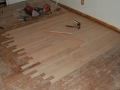 Restoring the Wood Floors - Patching After