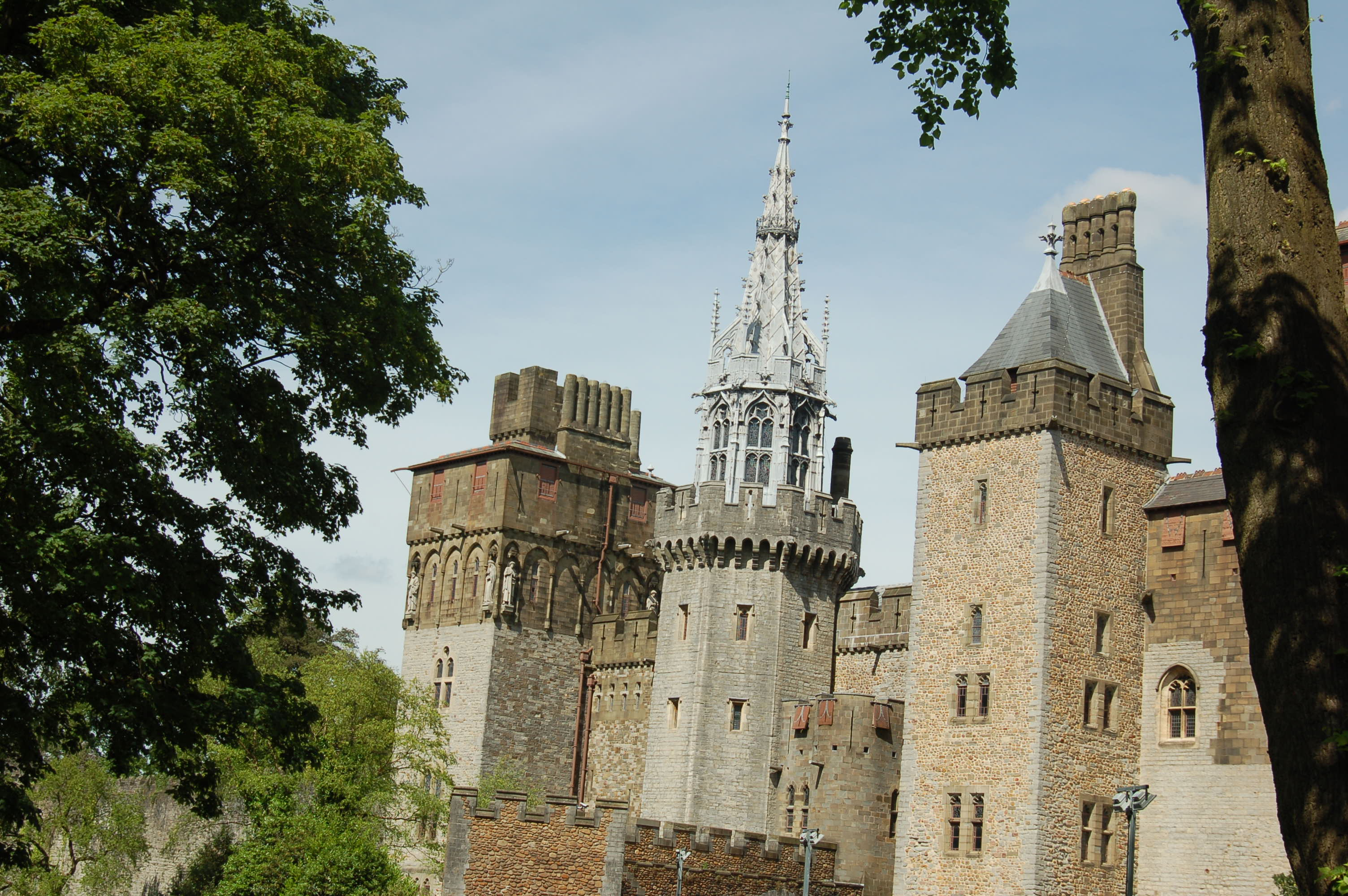 Cardiff Castle From the Outside