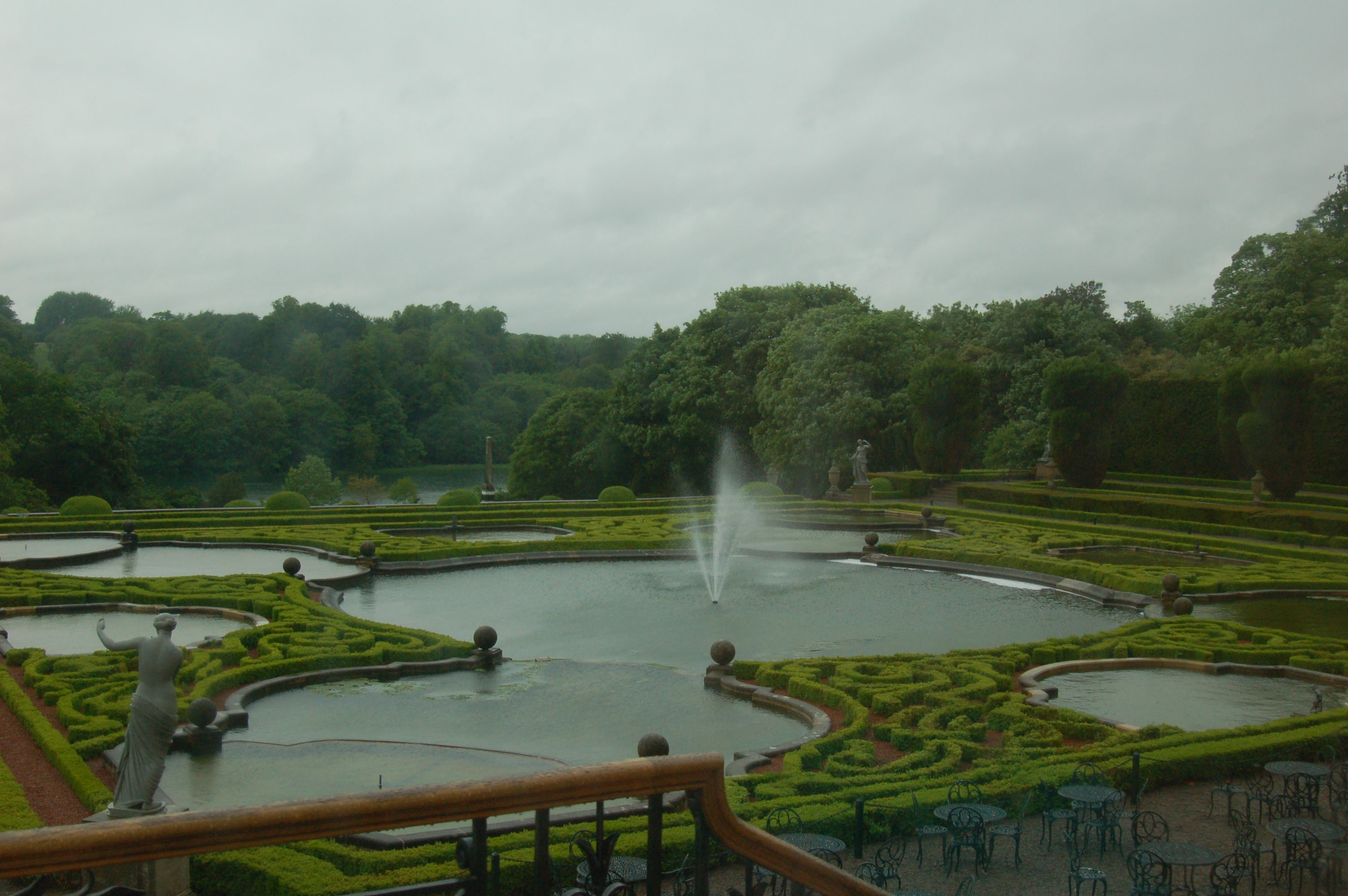 View of Blenheim Palace Gardens