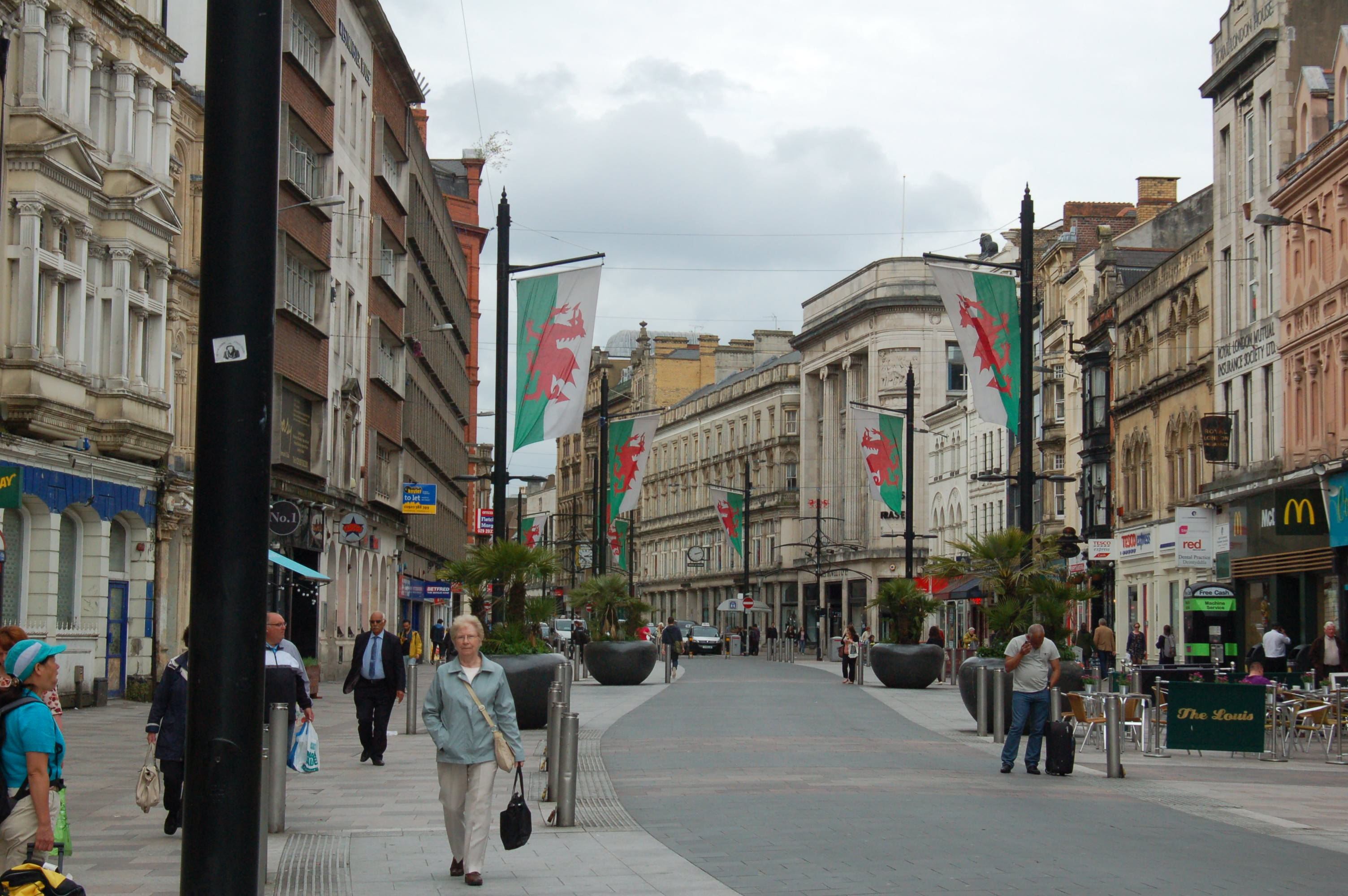 Main Street of Cardiff, Wales