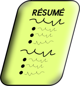 Cartoon Image of a Resume