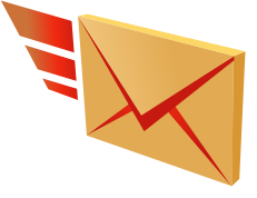 Flying Mail Cartoon image