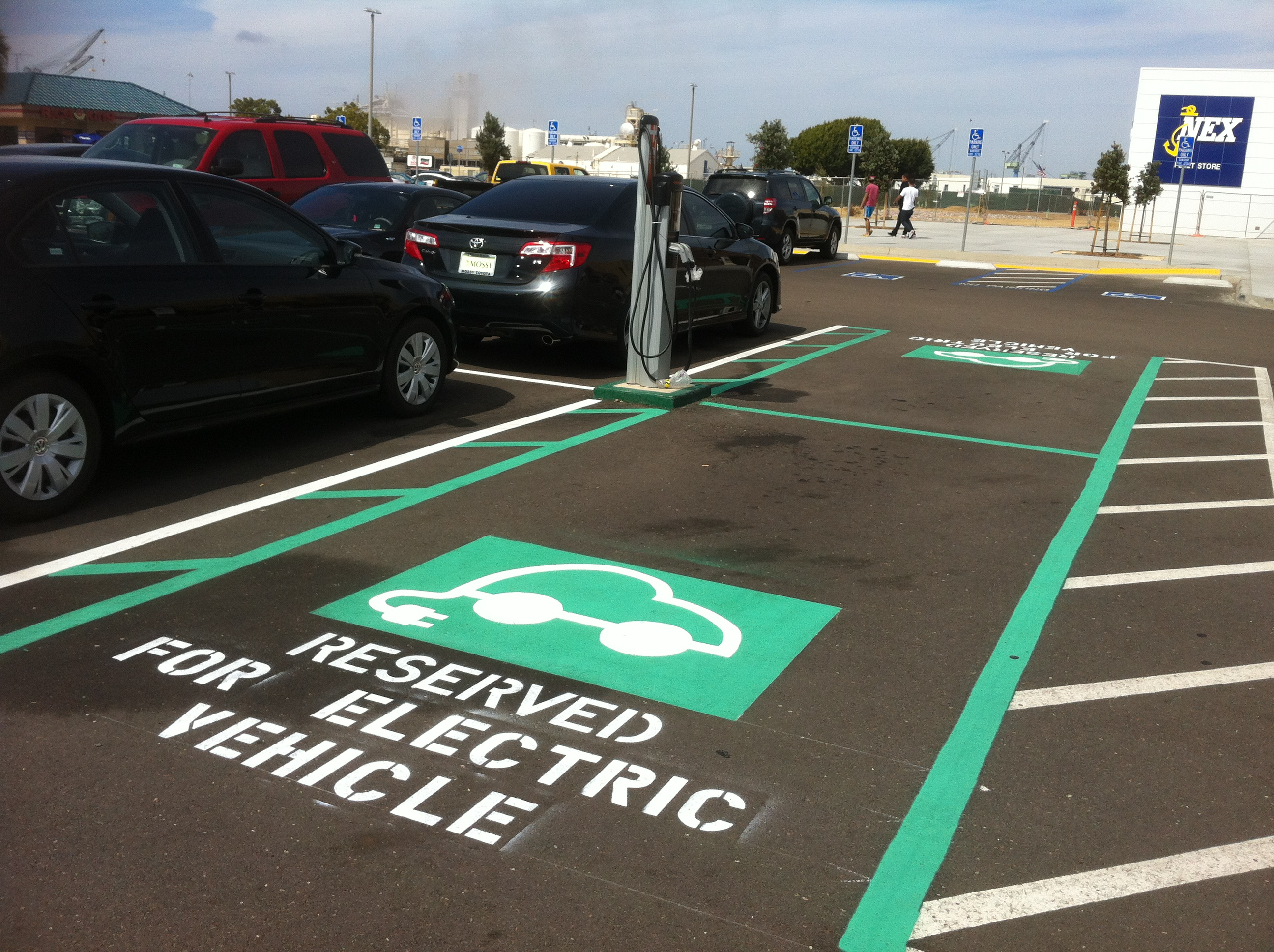 Reserved Parking Space for EV Vehicles