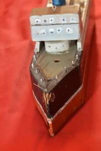 Front View of an Old Toy Ocean Liner