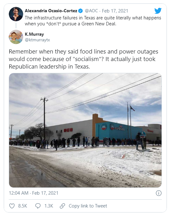 Socialism Texas-style self-inflicted on residents