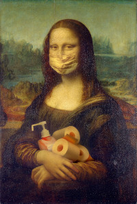 A Pandemic Mona Lisa after a year of staying safer at home