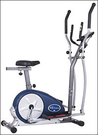 Dual Exercise Bike Elliptical Trainer