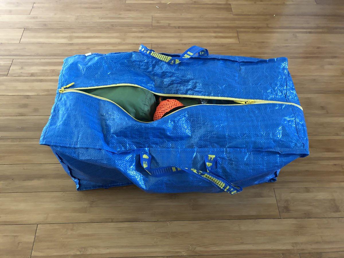 Ikea Storage Bag with Kayak Gear