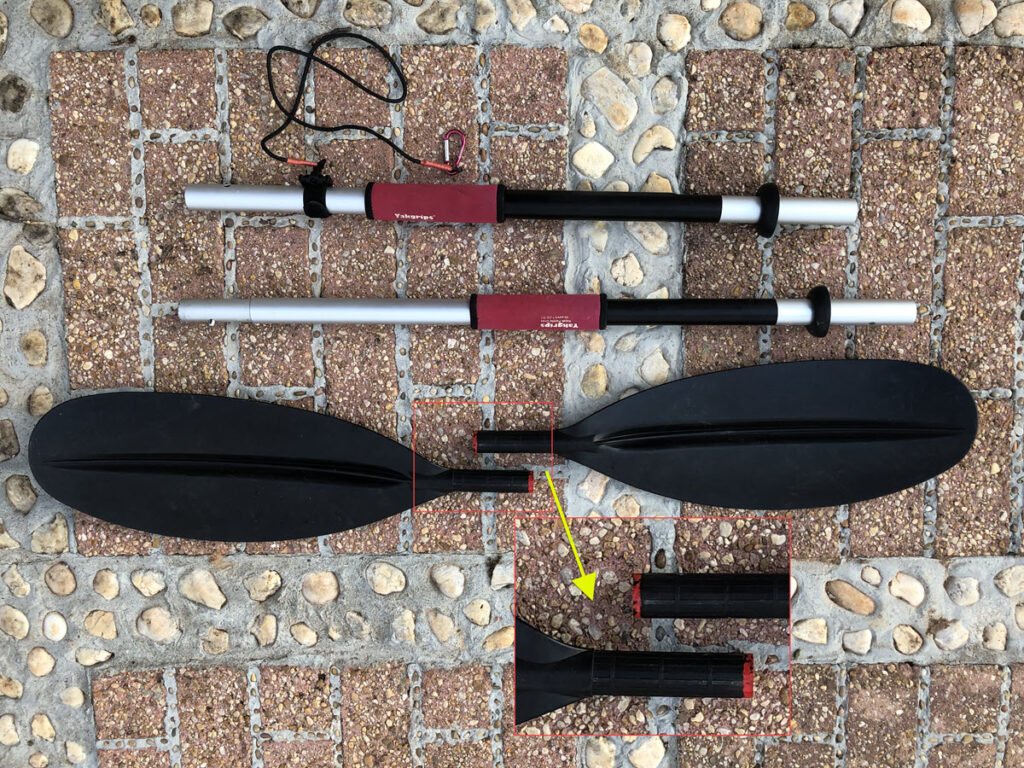 Port Color-Coded Red Paddle