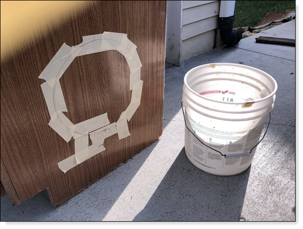 Cutout for Bucket as Nesting Box