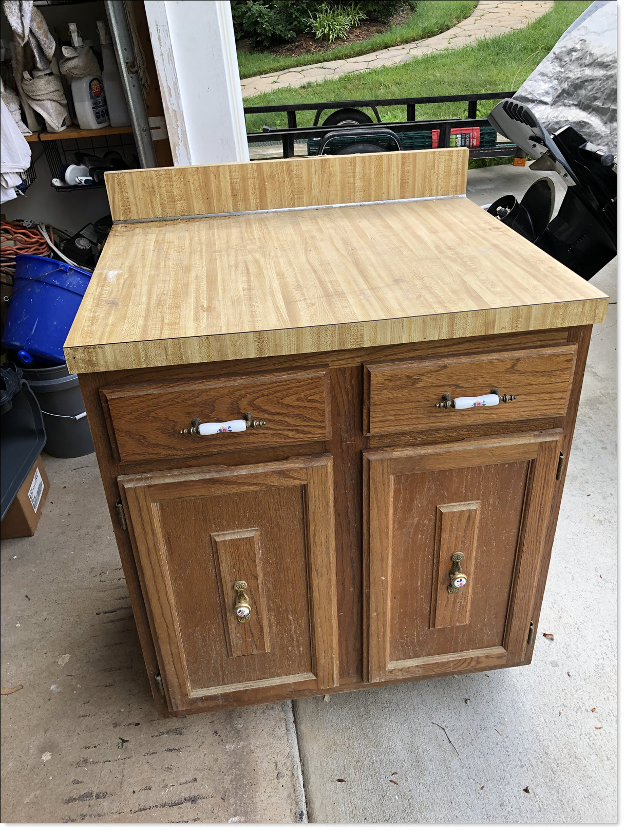 Using An Old Kitchen Cabinet for Chicken Coop